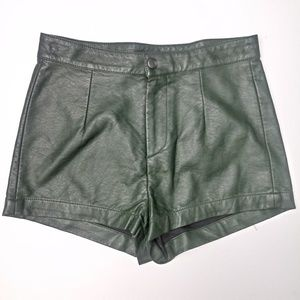 Forever 21 Faux Leather High Waist Shorts